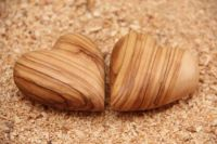 Olive Wood Carving Heart