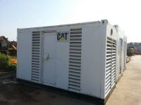 used CAT marine diesel genset with silent canopy
