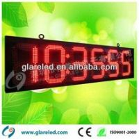 LED time and temperature sign