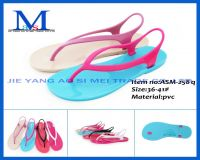 Fashion cheap high quanlity mature woman PVC slippers for 2014