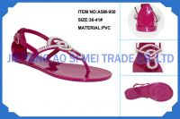2014 new girl shoes new design fashion sandals for PVC slippers ASM-950