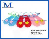 Fashion cheap high quanlity mature lady PVC slippers ASM-420