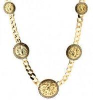 Gold Plated Medusa 5 Medallion Chain - Hip Hop style Medusa Pendant