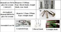 Sintered and Electroplated Diamond Core Drill Bit Diamond Hole Saw for Glass
