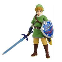 Zelda plastic battle tops toys story game action figures with kids swords and shields
