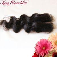 100% Unprocessed Body Wave Brazlian Virgin Human Hair Lace Closure Bleached Knots