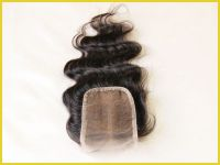 100% Unprocessed Body Wave Brazlian Virgin Human Hair Lace Closure Bleached Knots