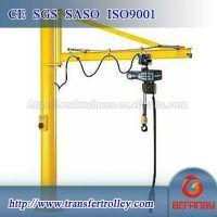 5t electric hoist slewing jib crane