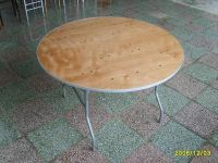 Dining round folding table