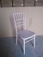 2013 new wooden washed white chiavari chair