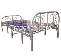 Metal Folding Bed /10 Legs Metal Single Folding Bed Export to Dubai Doha