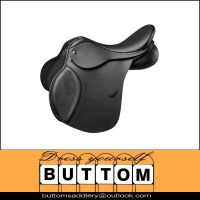 Horse saddle Multi purpose Jumping saddle in brown with knee rolls