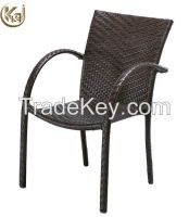 Outdoor furniture garden darkbrown armchair KC1256