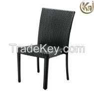 Outdoor furniture garden darkbrown armless chair KC1257