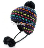 Fashion Hand Knit Jacquard Knit Hat