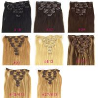 human hair clip-in hair extension  clip hair free shipping to world wide