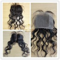 human hair top closure   lace closure and silk base closure