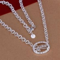 925 sterling silver plated fashion necklace jewelry