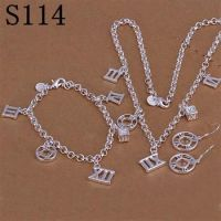new arrival 925 sterling silver necklace,earring and bracelet jewelry sets