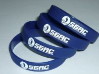High quality custom text and logo silicone bracelets