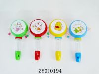 Candy rattle-drum with whistle
