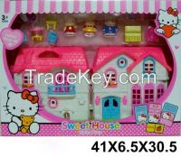 Hello kitty villa game /play house toys