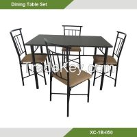 Home furniture-Metal  table set/ 5 pcs Dining table and chairs XC-1B-049