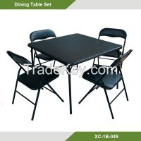 Home furniture-Folding table set/ 5 pcs Dining table and chairs XC-1B-049