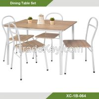 Dining Room Set-Cheap Metal 5 pcs Dining set /Dining table and chairs XC-1B-064