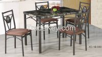 cheap heavy-duty furniture dining table and 4 chairs