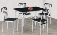 Modern 5pcs Dining Set Durable Dining Table with 4 Nice Dining Chairs