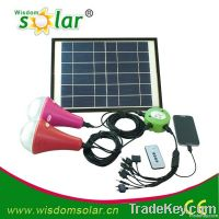 Solar energy home led lighting system