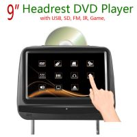 7 or 9 inch Headrest DVD Player with FM IR USB SD Wireless Game 15 degrees up and down to adjust