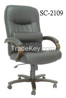 SC-2109Office Chair with Wooden Armrests and Base