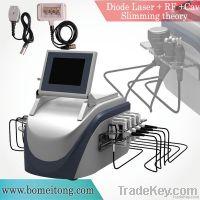 Popular combination Cavitation RF Lipo laser slimming machine
