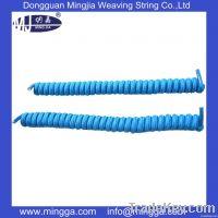 wholesale colorful jacquard curly round elastic shoelace
