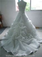 Lace bone bodice corset halter neck oganza wedding dress bridal gown wholesale factory in China