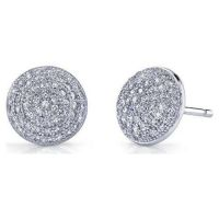 micro pavc silver earring