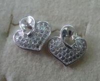 micro pavc silver earring