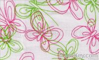 fabric with printed
