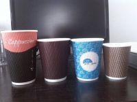 Corrugated paper cups