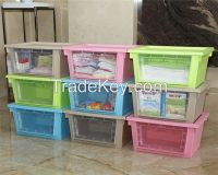 Openable 35L Plastic Compartment Storage Box Organizers With Transparent Window