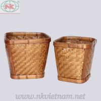 Rattan & bamboo fruit basket