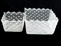 crochet basket of home accessories for gift home decoration