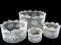 crochet basket of home