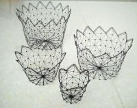 metalwire basket of homeware accessories gift for home decoration