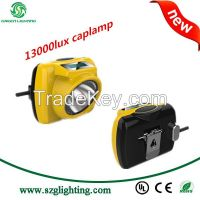 new design anti-explosive 13000lux rechargeable led mining safety cap lamp