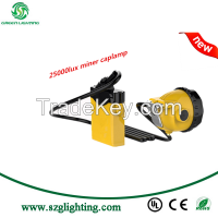 mining safety cap light manufacturer in China with 25000lux miner lamps