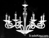 Glass Elbow Chandelier