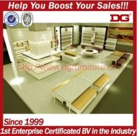 Customized retail store counter display for shoes display,showcase